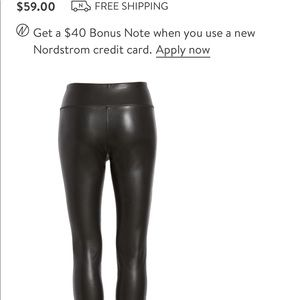 Nordstrom black leggings (xx large)